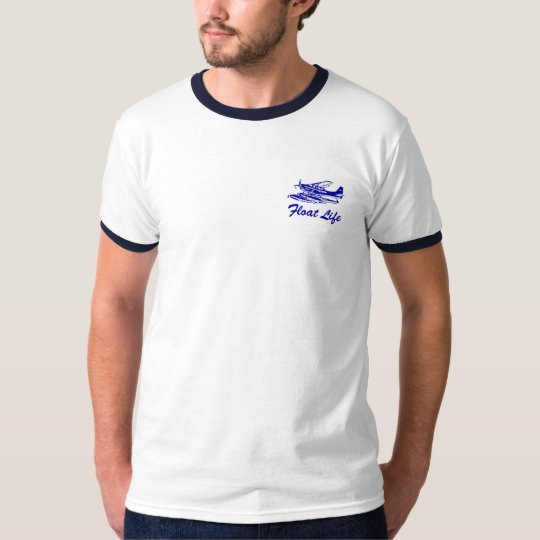 Cessna 206 Floatplane, ringed t-shirt
