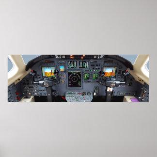 Cessna Citation XLS Instrument Panel Poster