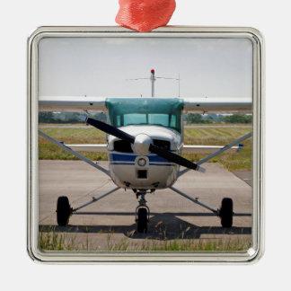 Cessna light aircraft Silver-Colored square decoration