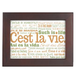 C'est La Vie custom keepsake box