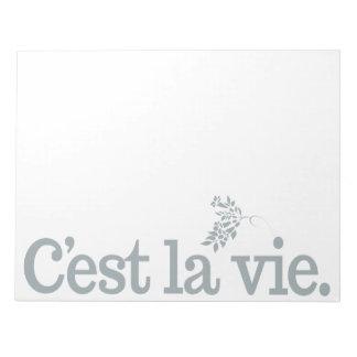 C'est La Vie custom notepad
