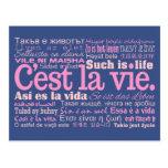 C'est La Vie custom postcards