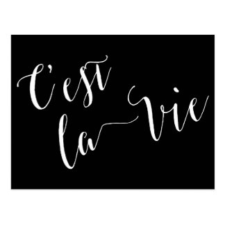 C'est la Vie French Calligraphy Postcard