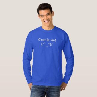 C'est la vie long sleeve t-shirt - Custom text!