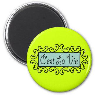 C'est La Vie (That's Life) ~ 6 Cm Round Magnet