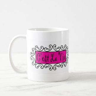 C'est La Vie (That's Life) ~ Basic White Mug