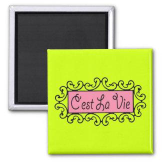 C'est La Vie (That's Life) ~ Square Magnet