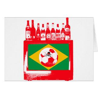céu de futebol brasileiro greeting card