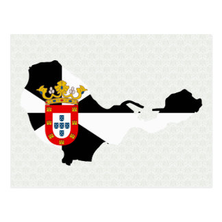 Ceuta Flag Map full size Postcard