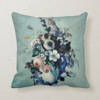 Cezanne Flowers Fine Art Throw Pillow