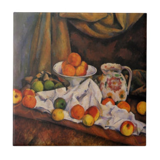 Cezanne: Fruit Bowl, Pitcher and Fruit artwork Tile