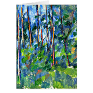 Cezanne - In the Woods -1898 Greeting Card