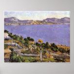 Cezanne - L Estaque vue du golfe de Marseille 1878 Posters