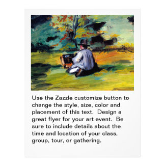 Cezanne painter at work post impressionist art full color flyer