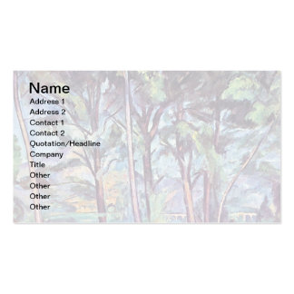 Cezanne - Pines And Aqueduct Business Card Template