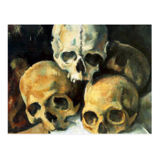 Cezanne Pyramid of Skulls Postcard