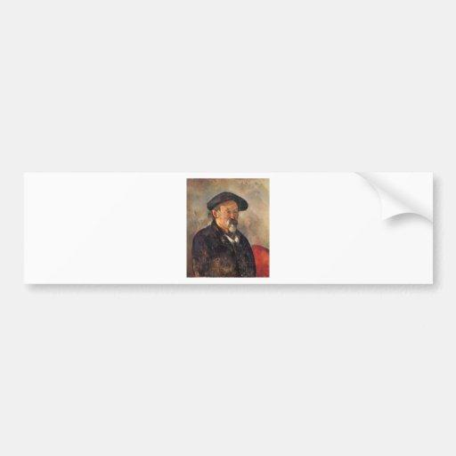 Cezanne - Self portrait with Barett Bumper Sticker