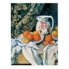 Cezanne Still Life Curtain,Flowered Pitcher,Fruit Postcard