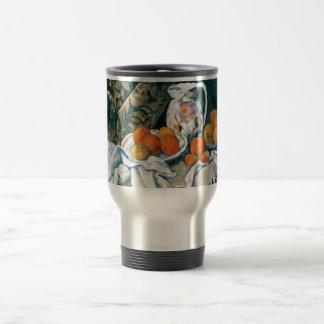 Cezanne Still Life Curtain,Flowered Pitcher,Fruit Stainless Steel Travel Mug