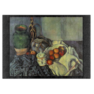 Cezanne Still Life with Apples Chopping Board