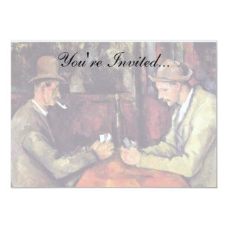 Cezanne - The Card Players - Poker 13 Cm X 18 Cm Invitation Card