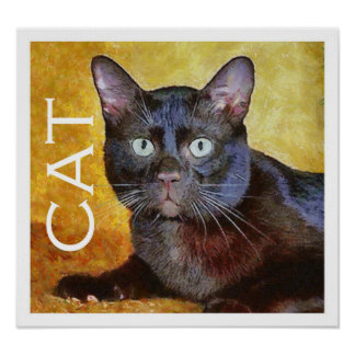Cezanne's cat posters