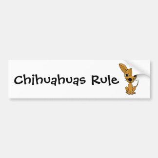 CF- Funny Chihuahua Design Car Bumper Sticker