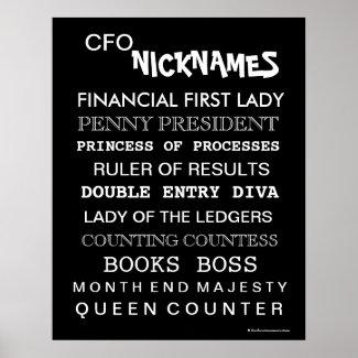 CFO Poster  print