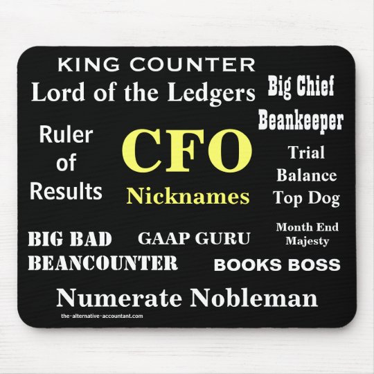 CFO Nicknames Funny Joke Job Titles Mouse Mat
