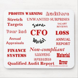 CFO Swear Words - Rude CFO Mousepad