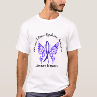 CFS Chronic Fatigue Syndrome Butterfly T-Shirt