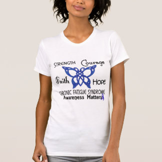 CFS Chronic Fatigue Syndrome Celtic Butterfly T Shirt