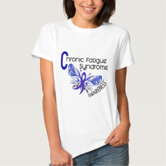 CFS Chronic Fatigue Syndrome Tattoo Butterfly Tee Shirts