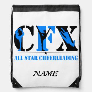 CFX Cheerleading Silhouettes Drawstring Bag