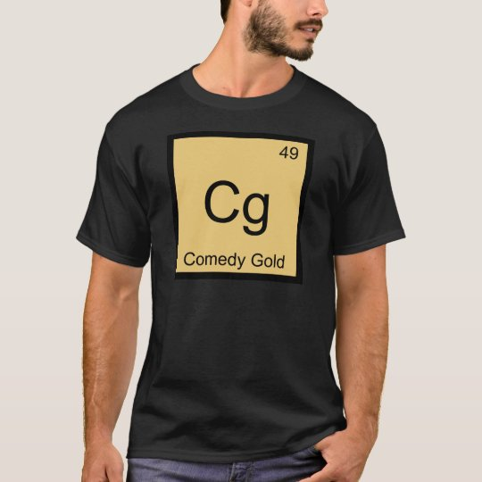 Cg - Comedy Gold Chemistry Element Symbol T-Shirt