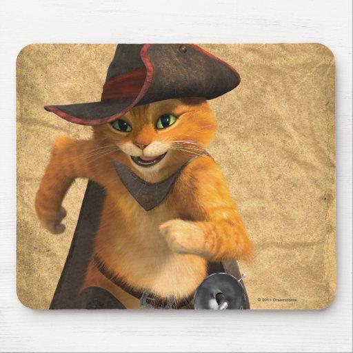 CG Puss Runs Mousepad