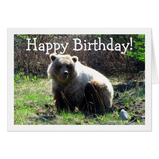 CGB Chubby Grizzly Bear Card