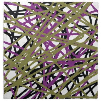 CGDHFN Abstract Digital Line-Art Napkin