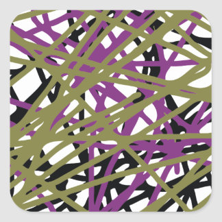 CGDHFN Abstract Digital Line-Art Square Sticker