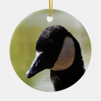 CGF Canada Goose Face Double-Sided Ceramic Round Christmas Ornament