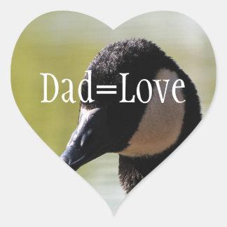 CGF Canada Goose Face Heart Sticker