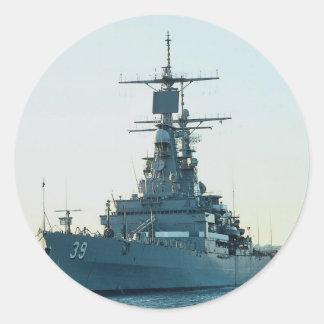 CGN 39 USS Texas nuclear powered cruiser San D Round Stickers