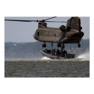 CH-47 Chinook Boat Lift Posters