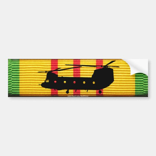 CH-47 Chinook on VSM Ribbon Bumper Sticker