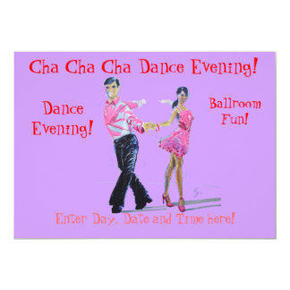 Cha Cha Cha Ballroom Dancing 13 Cm X 18 Cm Invitation Card