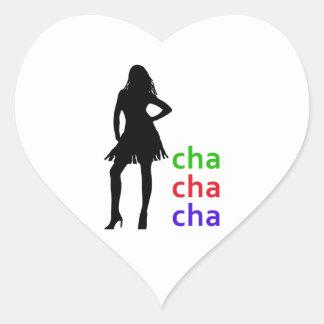 Cha Cha Cha Heart Sticker