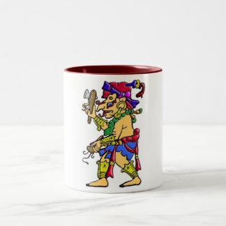 Chac mayan rain god Two-Tone mug