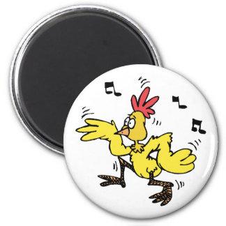 ChaChaCha Chicken 6 Cm Round Magnet