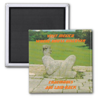 CHACMOOL CHAC-MOOL SOUVENIR MAGNET MEXICO TRAVEL