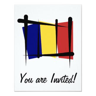 Chad Brush Flag 11 Cm X 14 Cm Invitation Card